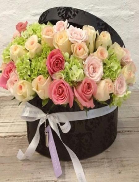 Kutuda Ortanca ve Güller