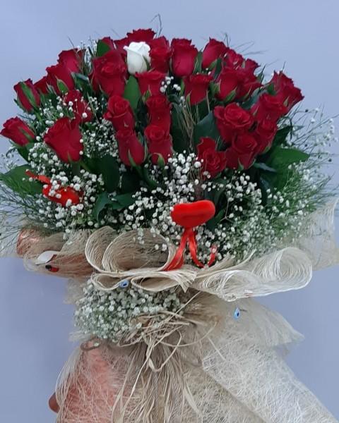 Kız İsteme Çiçek Buketi 41 Gül
